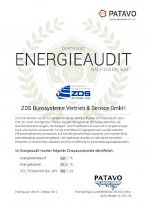 ZDS Bürosysteme Vertrieb und Service GmbH: Energieaudit